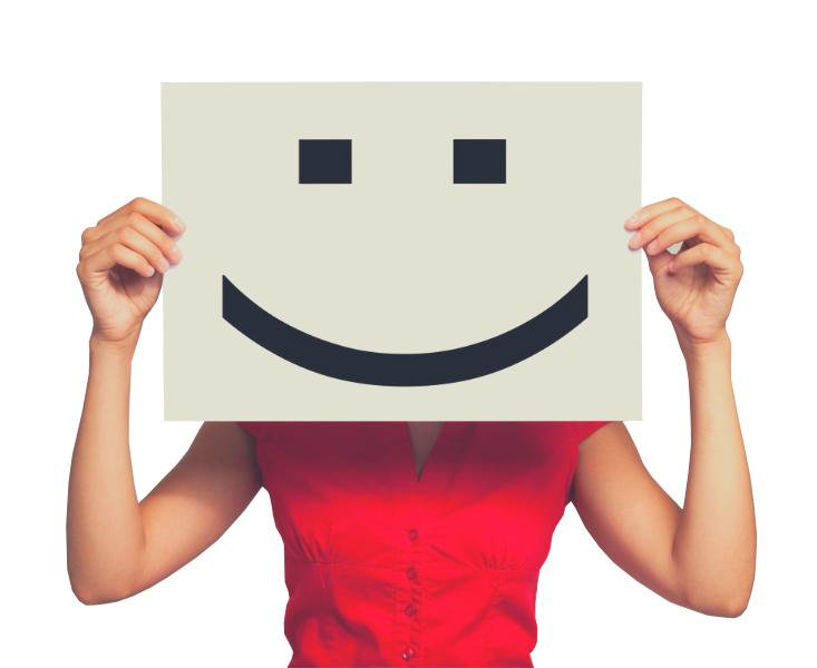 Osoba z uśmiechem